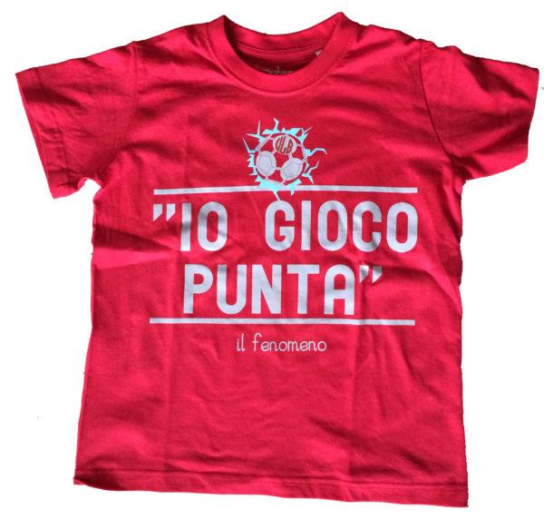 T-shirt Io gioco punta rosso