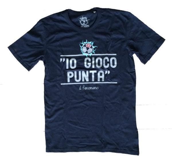 T-shirt Io gioco punta blu navy