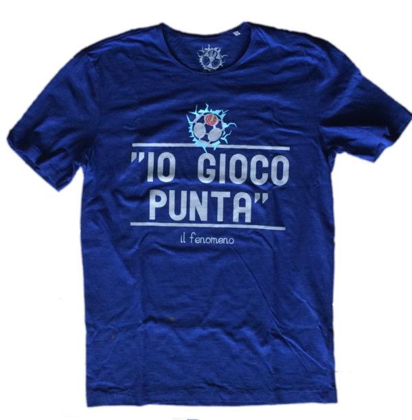 T-shirt Io gioco punta blu SLUB