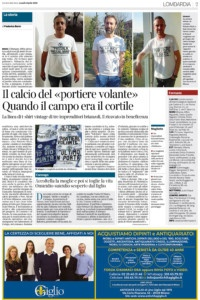 """Dicono di noi. Corriere della sera """"la linea di t-shirt vintage per aiutare l'ospedale di Monza"""""""
